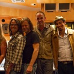 (Left to Right) Mike Cochrane, Michael C. Mason, William H. Macy, Greg Jasperes, Ryan Cross, Ryan Greene.  Taken at Recording Session.